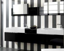 Fekete-fehér fürdőszoba